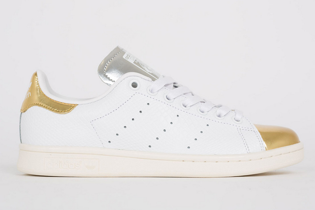 czech sneakerfreaker adidas stan smith white metallic gold silver notey  7c433 614ca 0c3c7cd696e9
